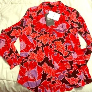 Who What Wear Floral Button blouse